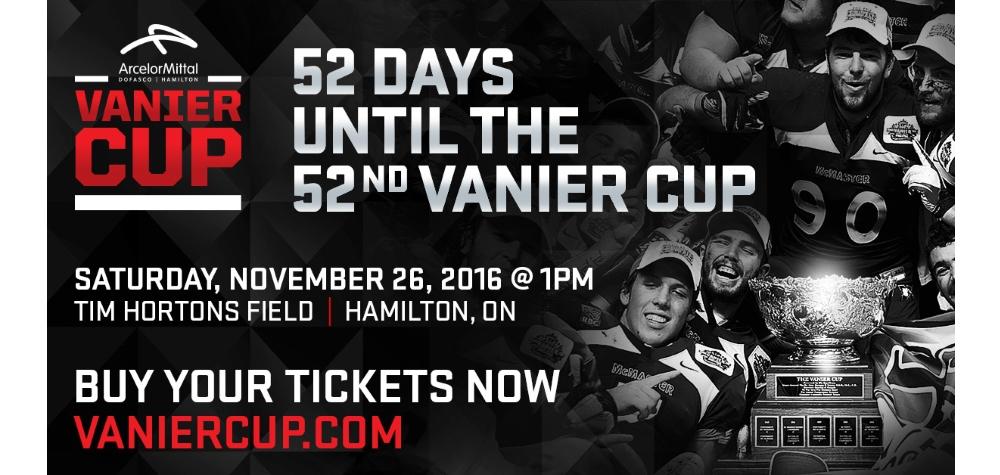52 days until the Vanier Cup