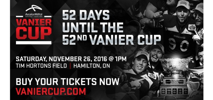 52 days until the Vanier Cup