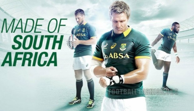 South africa springboks 2014 15 asics home kit football for Unique home stays jersey
