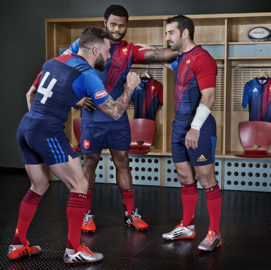 Adidas Rugby Home: France Rugby 2015 Adidas Rugby 7s Home Kit