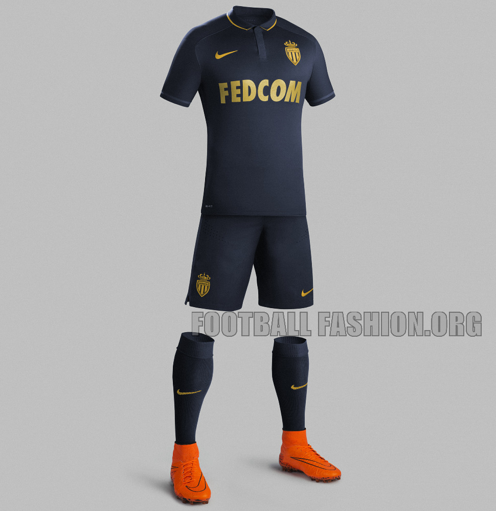 AS Monaco 201516 Nike Away Kit FOOTBALL