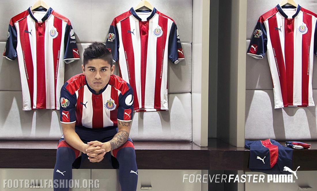 Chivas de guadalajara 2016 17 puma home and away jerseys football