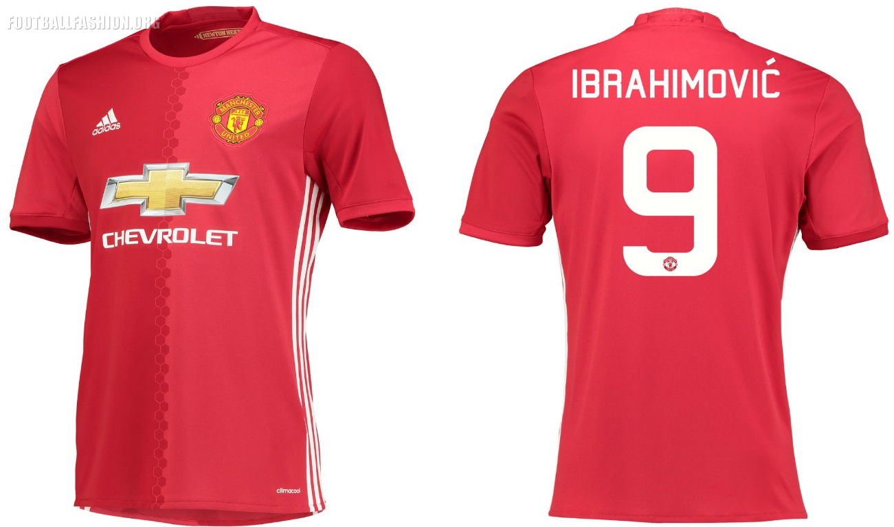Manchester United 2016/17 adidas Home Kit | FOOTBALL ...