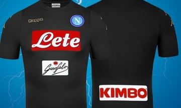 SSC Napoli 2016 2017 Kappa Third Football Kit, Soccer Jersey, Shirt, Gara, Maglia, Camiseta, Camisa