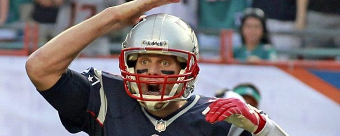 New England Patriots quarterback Tom Brady gives signals during an NFL game against the Miami Dolphins at Sun Life Stadium in Miami Gardens, Fla., on Sunday, Dec. 15, 2013. (Charles Trainor Jr./Miami Herald/MCT via Getty Images)