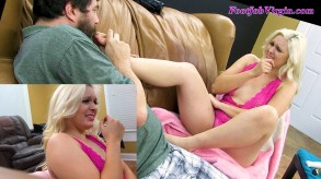 Image3 for Chloe's 1st Footjob and COOL TOY!, amateur, blowjobs, casting-couch