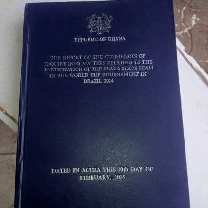 The Dzamefe Commission report was sold to the public for GHc120.00