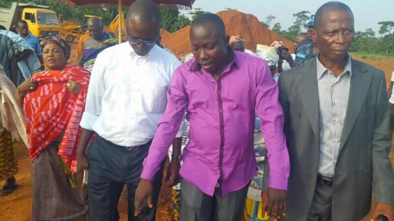 Former Sports Minister Mustapha Ahmed at Edubiase for sod-cutting ceremony - August 2015