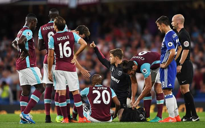 Andre-Ayew-West-Ham-debut-injury