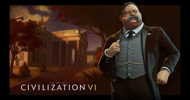 """Civilization VI will feature a new iconic President for the American Civilization - Theodore """"Teddy"""" Roosevelt."""