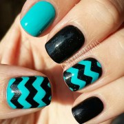 beautiful chevron nail art