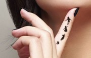 beautiful finger tattoo