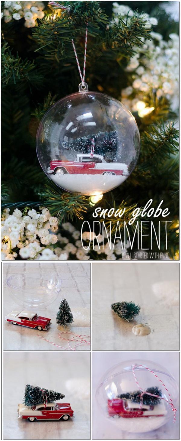 Diy Paint Brush Christmas Ornaments