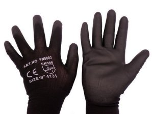 Close fitting work gloves