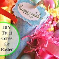 Easy DIY Easter Treat Cones made with Cardstock Paper