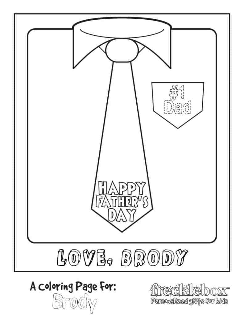 Free Printable Coloring Page for Father's Day
