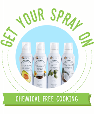 Chosen Foods No-Chemical Cooking Sprays Giveaway
