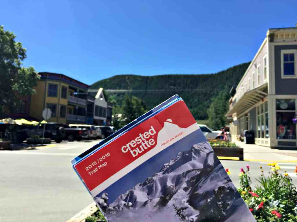 Family Vacation Crested Butte CO map mountains