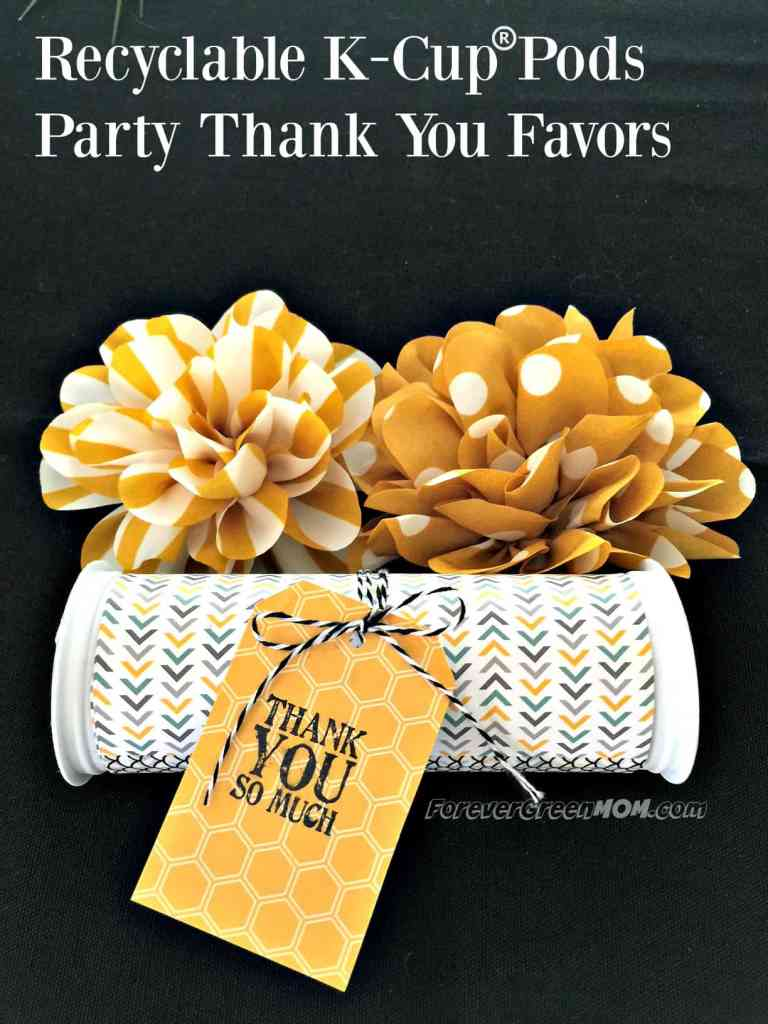 recyclable-k-cup-pods-party-thank-you-favors #ad #StarbucksCaffeLatte