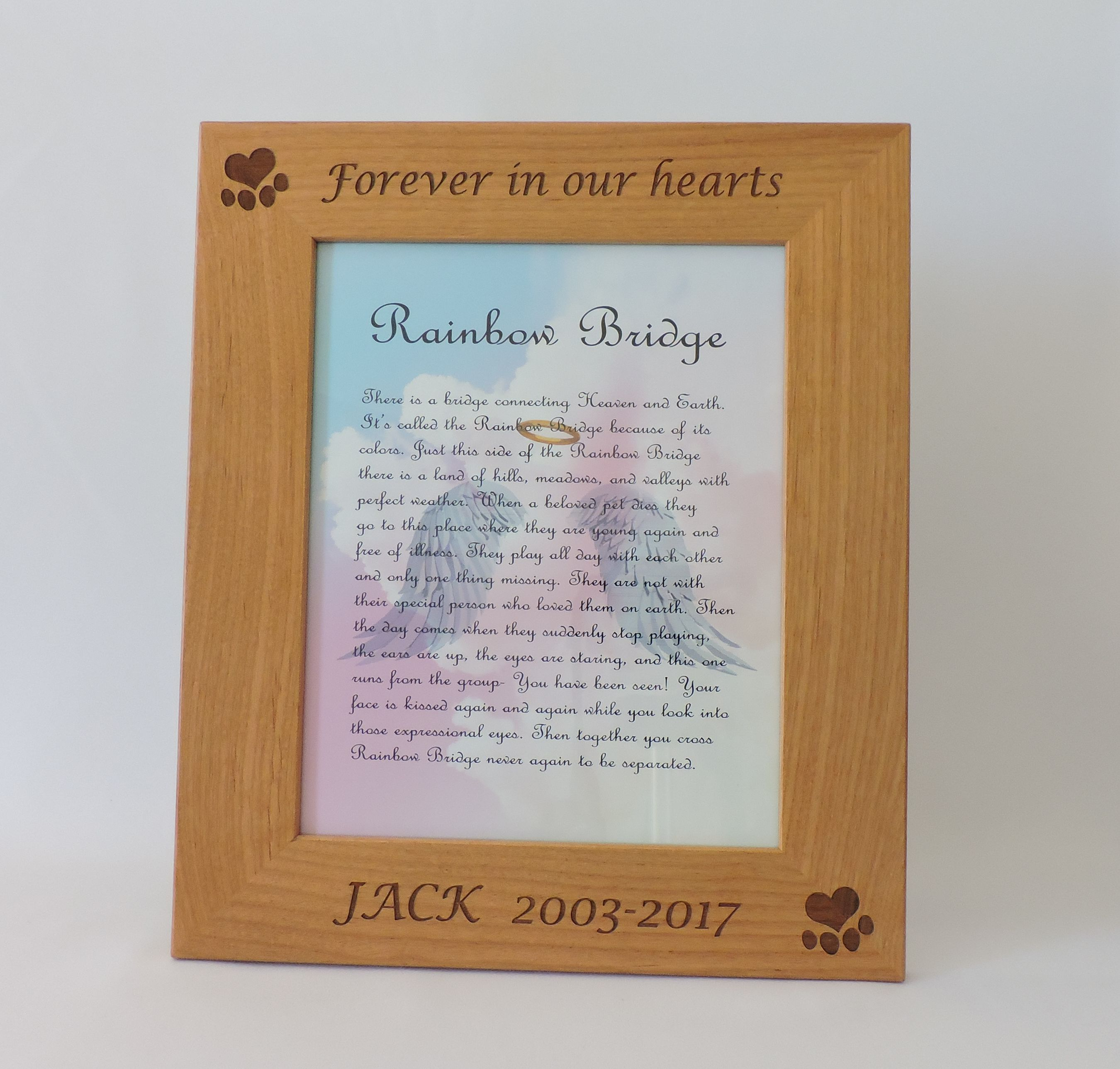 Congenial Fmg Snickers Dog Memorial Personalize Pet Photo Frame By Forever Pet Memorial Gifts Canada Pet Memorial Gifts Etsy gifts Pet Memorial Gifts