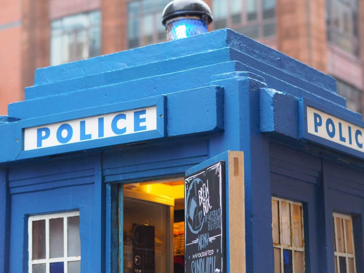Dr Brew? Brew Box Coffee Co in Glasgow City Tardis