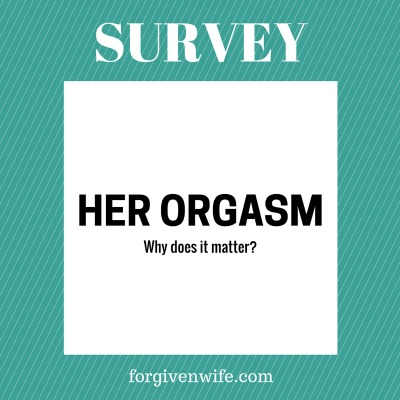 Guys, help me out. Why does her orgasm matter to you?