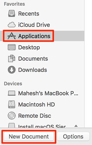 Cara Membuat New Blank Text File dalam Folder pada Mac Anda