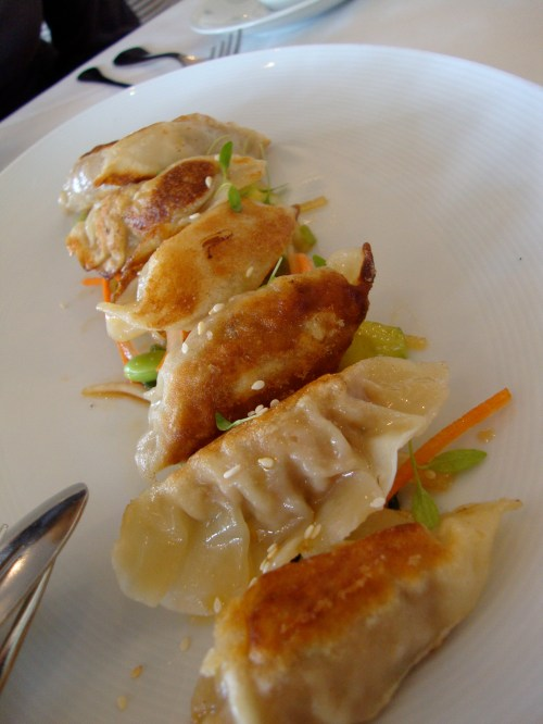 Pork and Shrimp Potstickers @ Redd