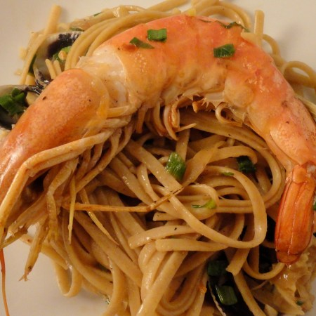 Linguine with Clams and Shrimp