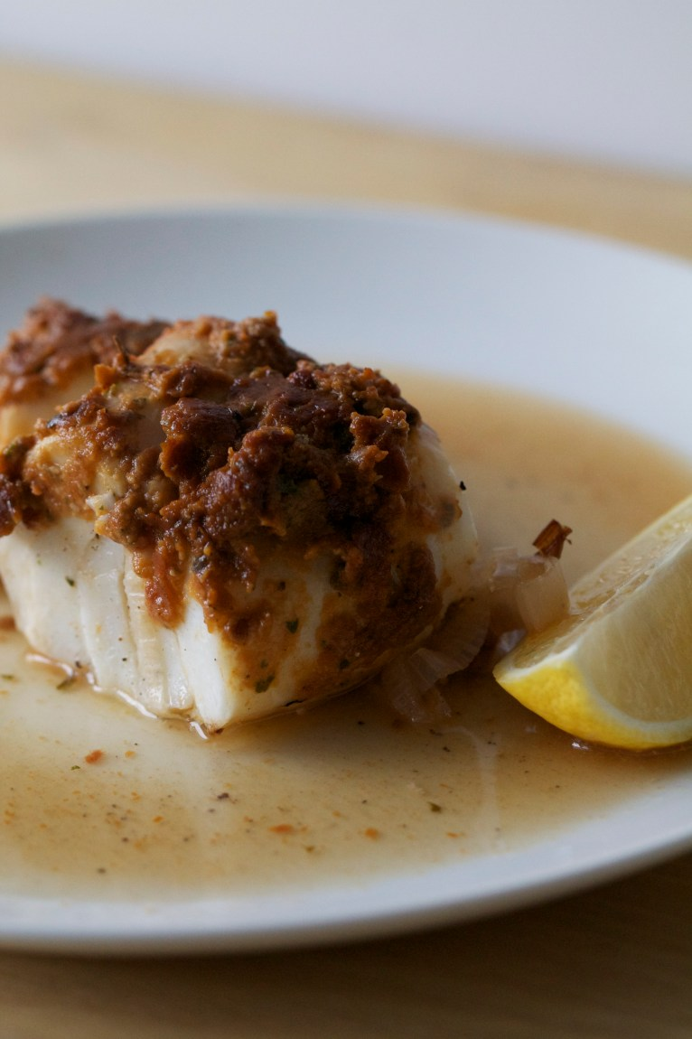 Halibut with Sundried Tomato Pesto