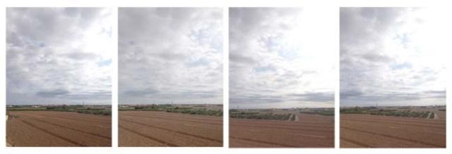 Secuencia de fotografías para crear un panorama