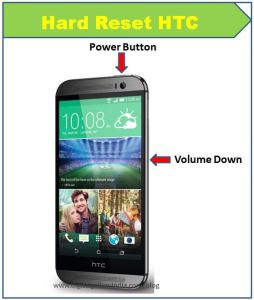 HTC One ME format atma