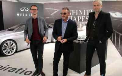 Creative design manager Burt Dehaes (left), UK design director Simon Cox and exterior design director Matt Weaver