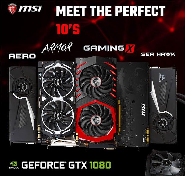 Gráficas MSI GTX 1080