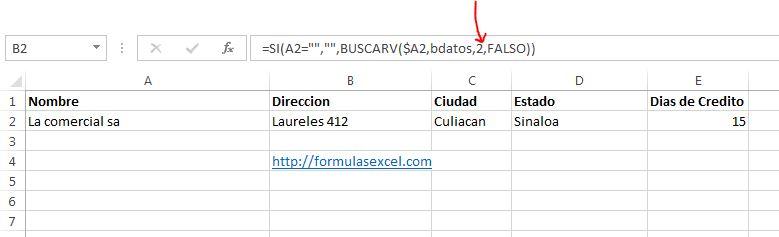 lista desplegable en excel - formulas