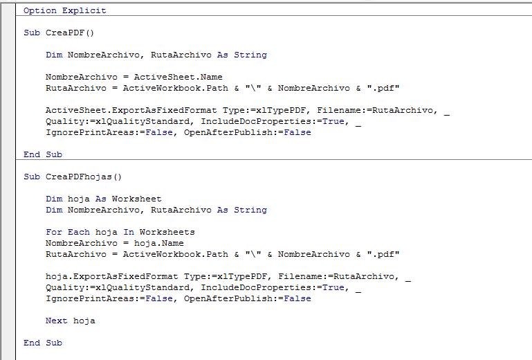 Macro Excel Crea PDF