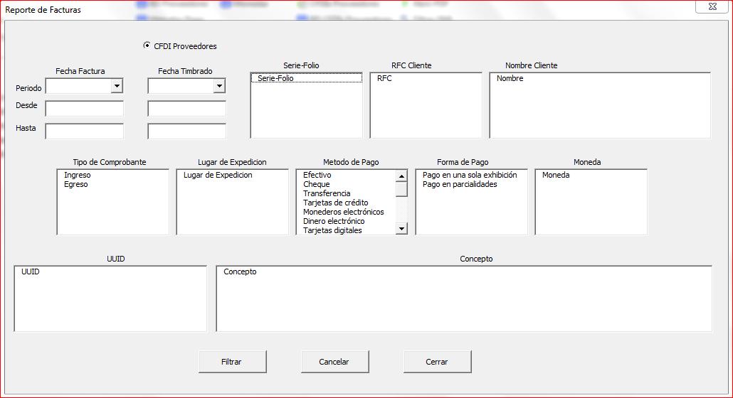 Reportes CFDI PagosFX 4.0