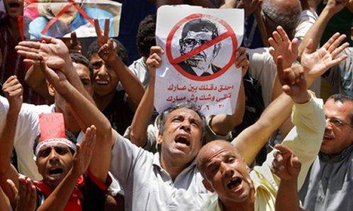poblacion festeja caida de morsi en egipto