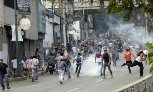 disturbios en venezual