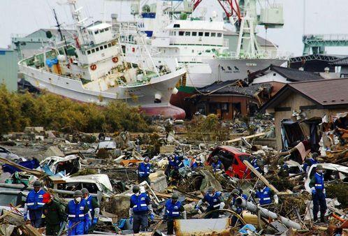 catastrofe de barcos encallados