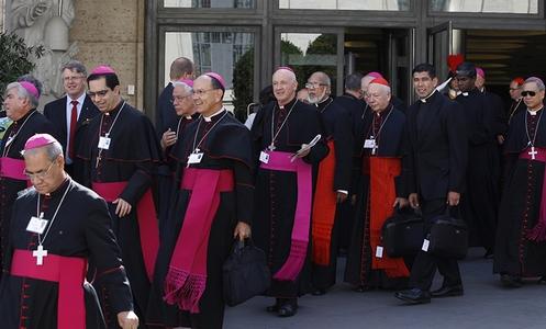 cardenales y opispos del sinodo de la familia