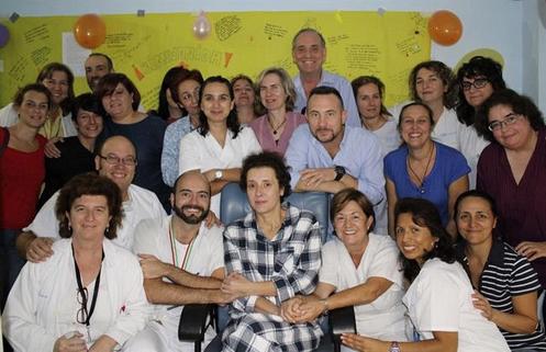 teresa romero y compañeros del hospital