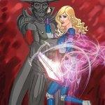Knyghtmare and Bekka of John East's The Legend of the Knyghtmare at http://legendoftheknyghtmare.comicdish.com