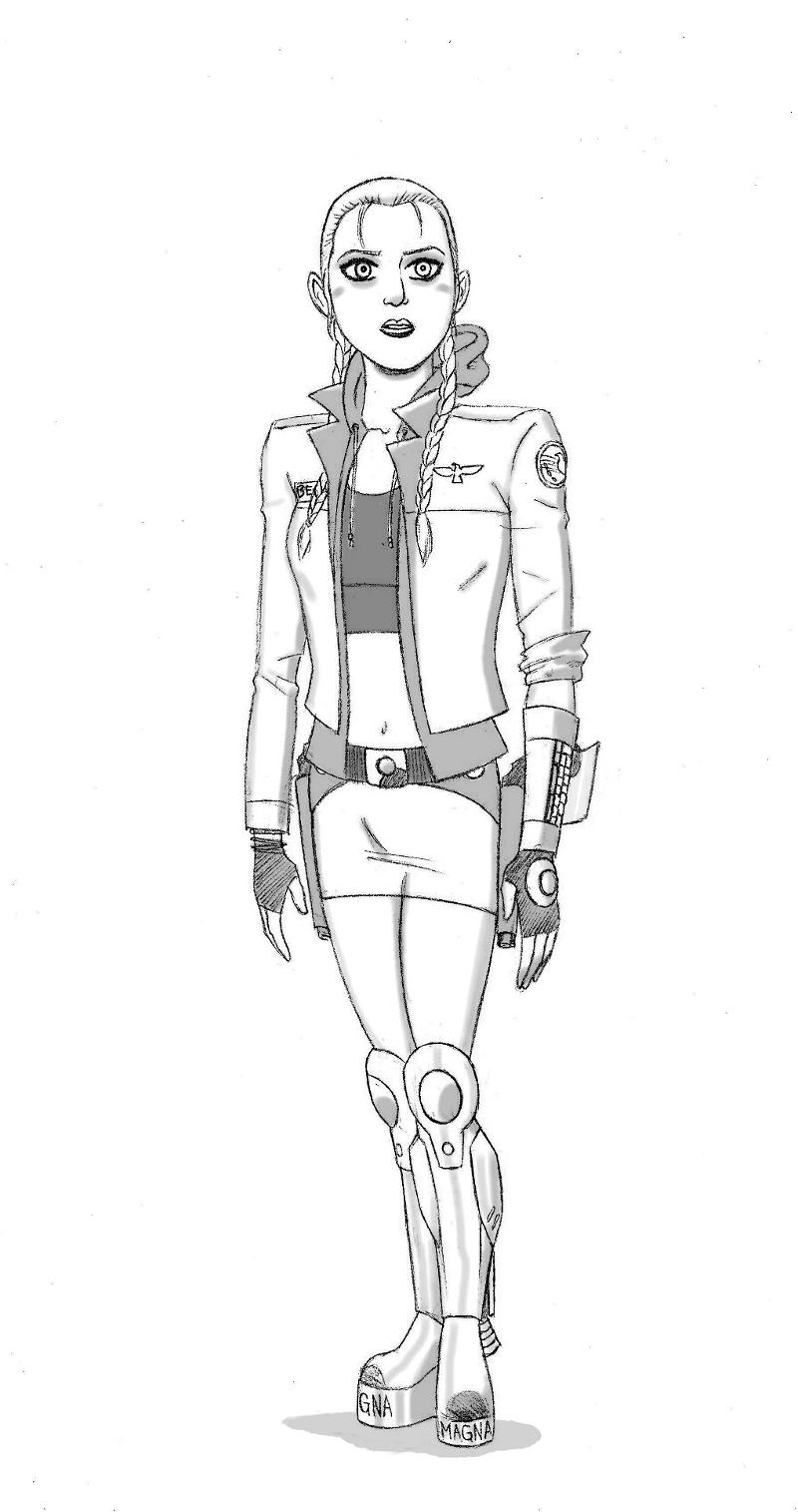 Captain Sera Besh v1 for Comic Creators Alliance Art Jam