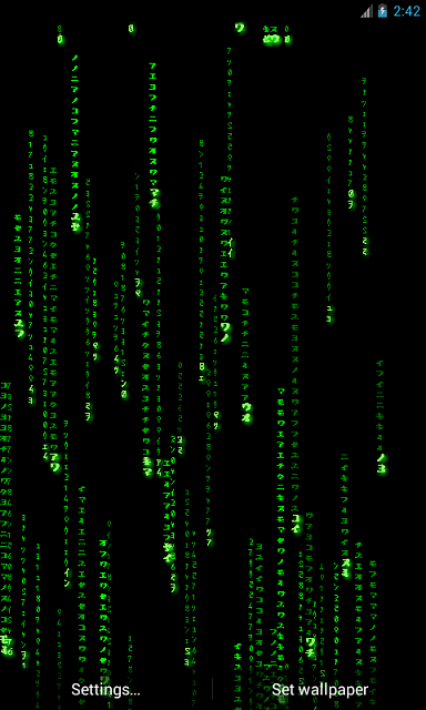 Matrix Live Wallpaper: Get the real feel! - Android Forums at AndroidCentral.com