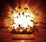 Windows computer exploding