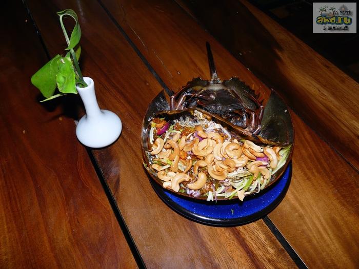 мэнгда, краб меченосец или хорсшу краб: тайская еда