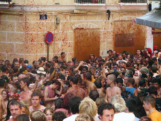 Томатина в Испании