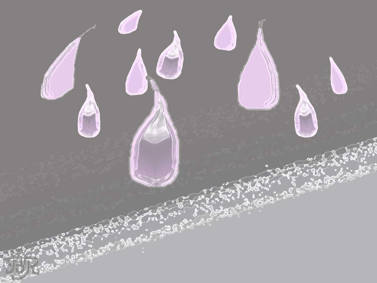 Rosa regndroppar