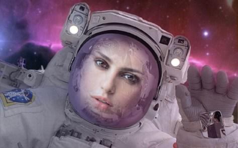 Fotomontaje de Astronauta de la NASA